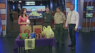 Boy Scouts Scouting For Food Drive