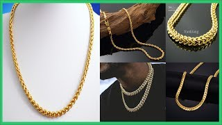 Top 45 Gold Necklace For Men   Gold Jewellery Designs   Mens Gold Necklace Designs