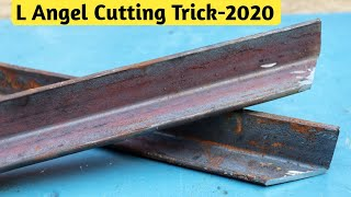 45 Degrees Cutting Angle Iron With Grinder