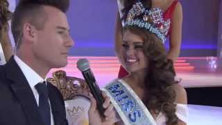 First Interview of Rolene Strauss after coronation as Miss World 2014