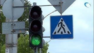 Неработающие новгородские светофоры включились после сюжета о них на НТ