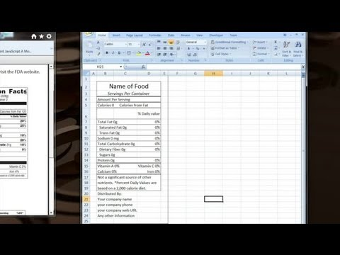 How to Make Your Own Excel Template for Nutrition Facts : Computer Tips