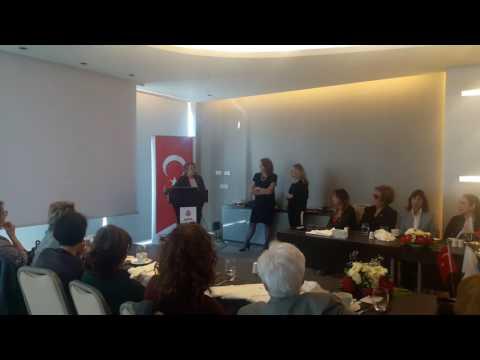 Türk Üniversiteli Kadınlar Derneği (TÜKD) Genel Başkanı Gaye Erbatur Antalya'da