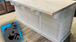 DIY Kitchen Island (with A Shiplap Look!)