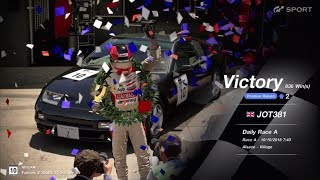 JOT381 GRAN TURISMO SPORT 101018 ALSACE NISSAN 300ZX 3rd to 1st ONLINE RACE 3 LAPS 836th WIN