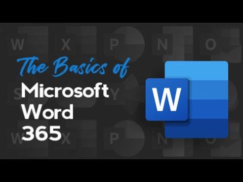 Free Course: Microsoft Word 365 Basics - YouTube