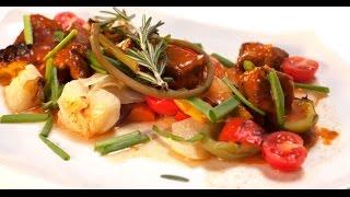 Рагу из говядины с овощами в пряном соусе   Мясо. От филе до фарша