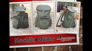 DIY Como Hacer Una Mochila Backpack Military Bags Por Yuruanni Bravo Patrones Disponibles
