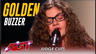 "Sophie Pecora: Teen Artist Sings ""Misfits"" And Gets GOLDEN BUZZER!   America's Got Talent 2019"
