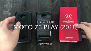 Moto Z3 PLAY / Moto Z3 [Aeigs & Iron Tank Series] COVRWARE  Full-Body Protection Armor Holster Case