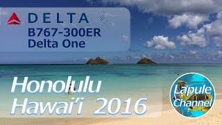 Honolulu Hawai'i 2016 - Travel To Honolulu Oahu Hawaii With Delta One B767