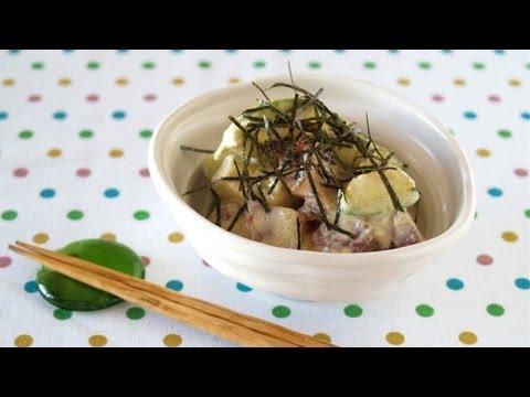 How to Make Tasty Mayo Marinated Tuna and Avocado (Recipe) まぐろとアボカドのウマヨ和え (レシピ)