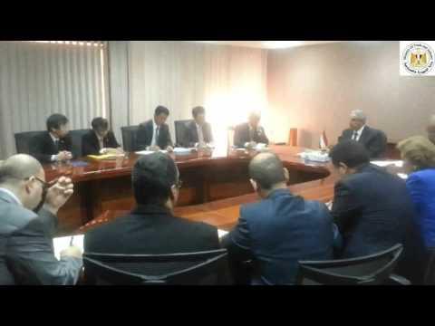 لقاء المهندس/طارق قابيل وزير التجارة والصناعة برئيس الجانب اليابانى فى مجلس الأعمال المشترك
