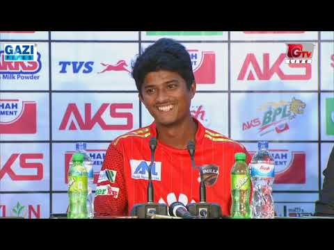 Press Conference with Mahedi Hasan after winning against Rangpur Riders