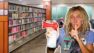 Air Horn Prank IN LIBRARY!! *Cops Called* - Video Youtube