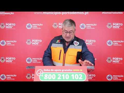 Comunicado Presidente da Câmara Municipal de Porto de Mós - COVID-19 - 10-05-2020