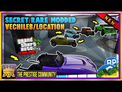 GTA 5 Online RARE MODDED CARS FREE! Rare STORABLE Cars Spawn Locations (GTA 5 Secret Rare Cars 1.41)