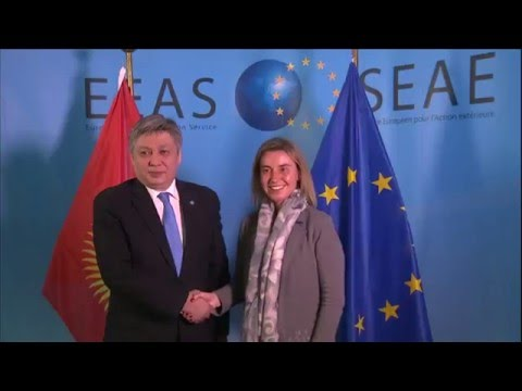 Images of the HRVP with Erlan ABDYLDAEV, Kyrgyz Foreign Minister