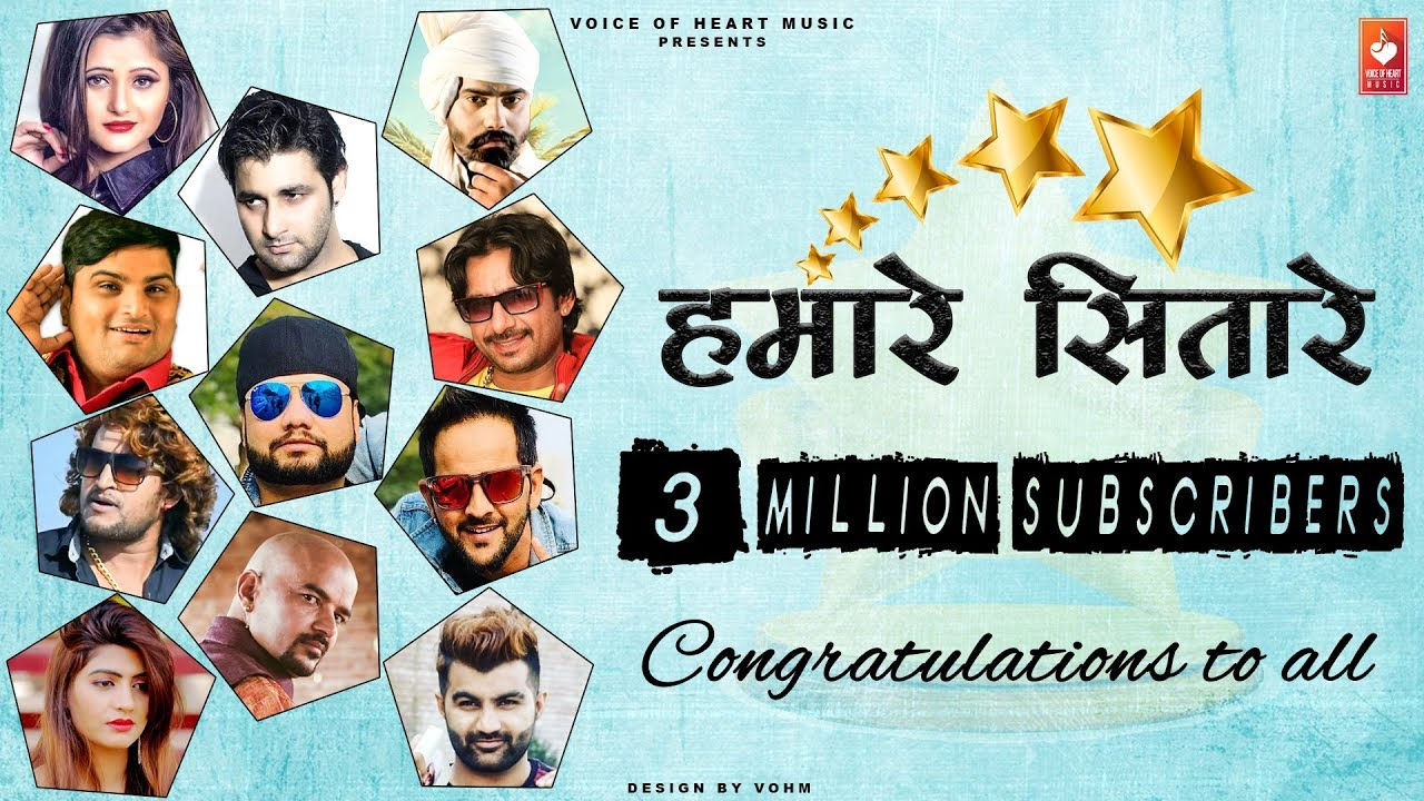 Hamare Sitare   Congratulations To All   Voice Of Heart Music   3 Million  Subscribers Video,Mp3 Free Download