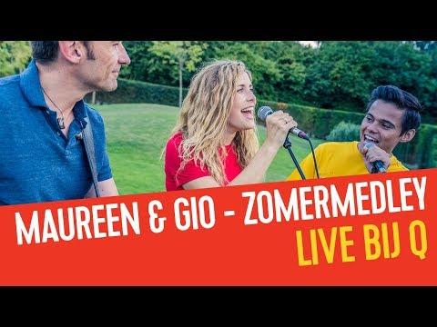 Maureen & Giovanni Kemper mixen alle zomerhits van 2018 aan elkaar | Live bij Q