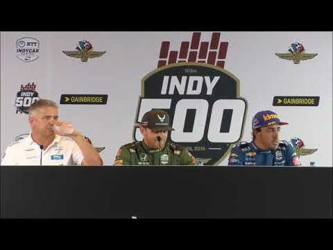 2019 Indy 500 Fast Friday Alonso and Daly Press Conference