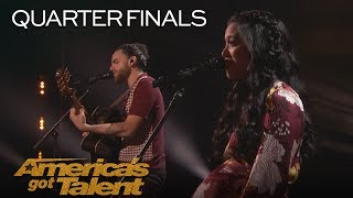 """Us The Duo: Married Couple Sings Adorable Original """"Like I Did With You"""" - America's Got Talent 2018"""