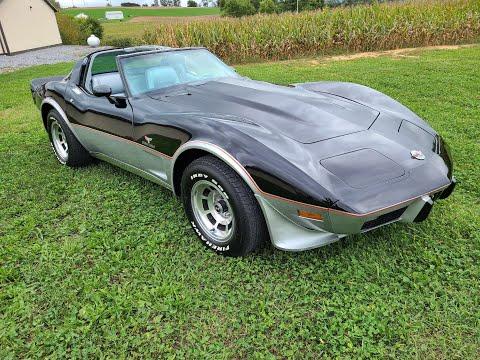 1978 Black Pace Car Corvette Automatic For Sale Video