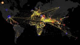Mapa interativo da imigração mundial