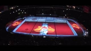 On Ice Projection  Локомотив Ярославль открытие сезона КХЛ 2016 2017
