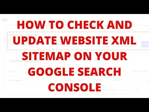 How to check and update website xml sitemap