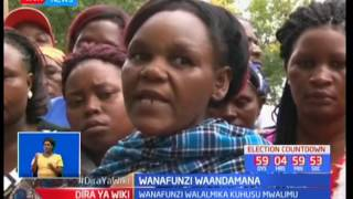 Wazazi na wanafunzi wa shule ya Consolata-Mbeere waandamana kutokana na mwalimu mkuu kutiwa mbaroni