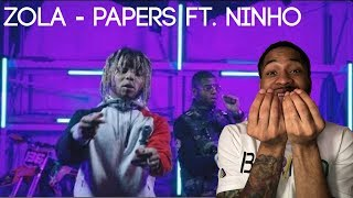 (FRENCH) Zola - Papers ft. Ninho | AMERICAN REACTS