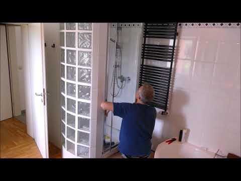 Duschtür für 130€, selbst installieren, einbauen