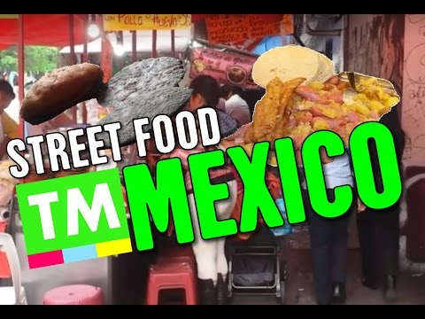 A Street Food Passageway in Mexico City | Mexican Food