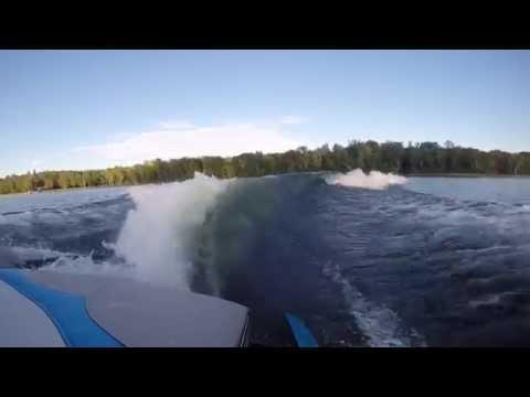 Wake Surfing Behind Malibu VLX 2013 Surf Gate MONSTER WAVE! GoPro3+ Liquid Force