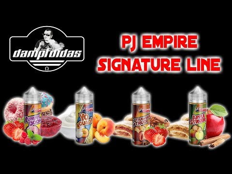 YouTube Video zu PJ Empire Reborn Signature Line Strawberry Strudl Longfill Aroma 30 ml für 120 ml