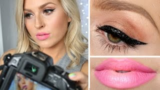 Glitter Cat Eye, Soft Ombre Lips ♡ & How To Take A Good Selfie!