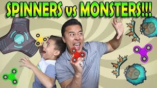 SPINNERS VS. MONSTERS!!! Free Fidget Spinner Game!