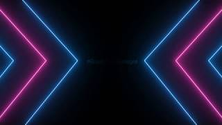 neon lights stage animation background video, progressive neon overlay loop, neon background effect