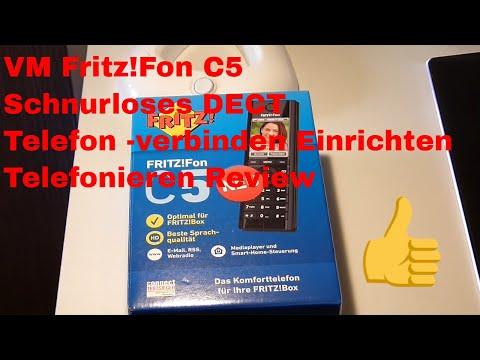 AVM Fritz!Fon C5 Schnurloses DECT Telefon - Fritz-box verbinden Einrichten Telefonieren  Review