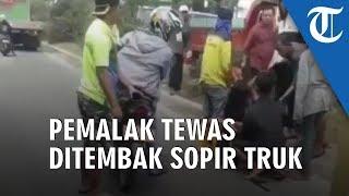 Viral Video Seorang yang Diduga Pemalak Tewas Ditembak oleh Seorang Sopir Truk di Palembang