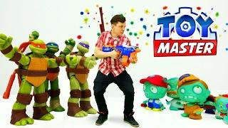 Мастер Игрушек Федор и Черепашки Ниндзя! Видео с игрушками.