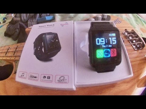 Video Review And Test Jam Tangan Pintar 90 Ribuan!! (SMART WATCH U8) Bluetooth conect an end install
