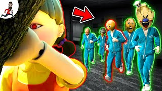 Squid Game ★ GAME 1★ Ice Scream,  Granny,  Scary Teacher, Baldi ★ funny horror animations (moments)