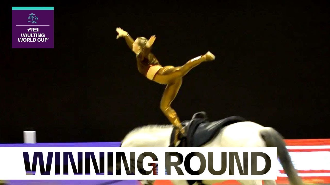 Video: Nadja Büttiker claims victory at 1st Vaulting leg | FEI Vaulting World Cup™