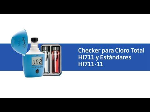 Cómo realizar la verificación de su Checker para Cloro Total HI711 con los estándares HI711 11