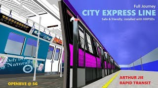 [OpenBVE][AJRT][Route Play] Full Journey! C398B @ The Safe & Friendly City Express Line!