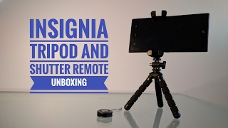 Insignia Smartphone Tripod and Remote Shutter Unboxing & Review