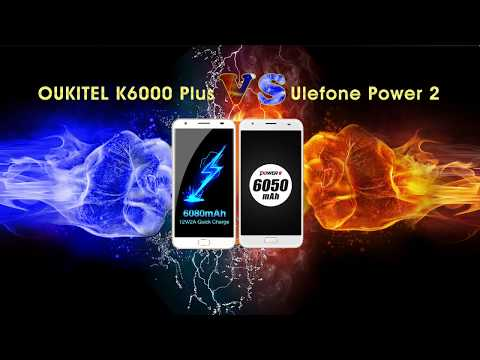 Video: OUKITEL K6000 Plus combatte contro Ulefone Power 2, chi vincerà?