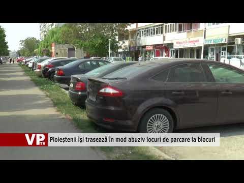 Ploieștenii îşi trasează în mod abuziv locuri de parcare la blocuri
